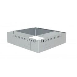 Sütőkeret, állítható négyzet, 16 cm-től 30 cm-ig, de Buyer