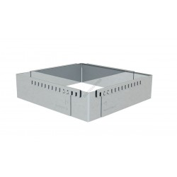Sütőkeret, állítható négyzet, 30 cm-től 57 cm-ig, de Buyer