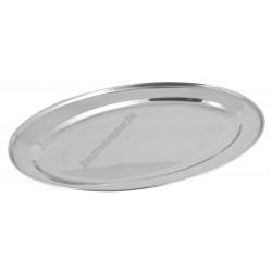 Tálca ovális 30 cm, vastagság 0,4 mm, rozsdamentes