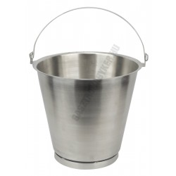 Mércés vödör 10 liter 28×28 cm, rozsdamentes