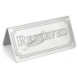 Asztali foglalt tábla 12×6 cm, rozsdamentes
