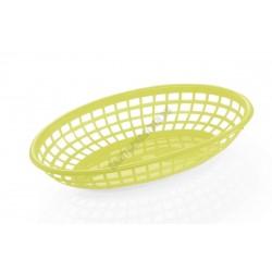Kenyérkosár, ovális, 23,5x14,5x4,5 cm, sárga, műanyag