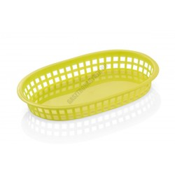Kenyérkosár, ovális, 27x17,5x3,5 cm, sárga, műanyag