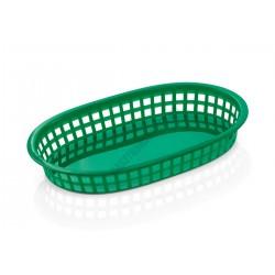 Kenyérkosár, ovális, 27x17,5x3,5 cm, zöld, műanyag