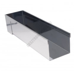 Pástétomforma, négyzet, 30x6,5x6,5 cm, de Buyer, rozsdamentes