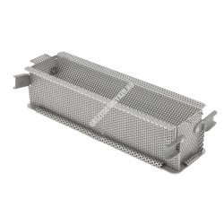 Pástétomforma, perforált, összehajtható, 24x5x6 cm, de Buyer, rozsdamentes