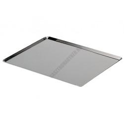 Sütőlemez, 53×32,5 cm, 45 fok felhajtás, rozsdamentes acél, de Buyer