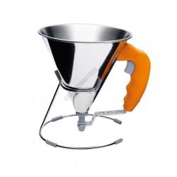 Díszítő tölcsér+állvány, mini, 0,8 liter, narancs, Kwik