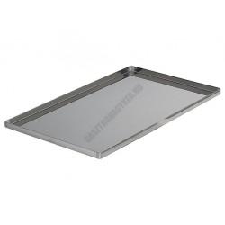 Sütőlemez, 53×32,5 cm, 90 fok felhajtás, rozsdamentes acél, de Buyer