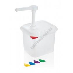 Pumpás mártás-szósz adagoló, 2,6 liter, GN 1/6 150 mm