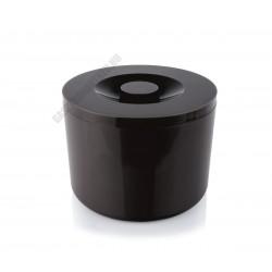 Jégvödör, duplafalú, 10 l, fekete, műanyag