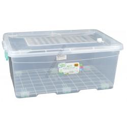 Uzsonnás doboz 40 liter átlátszó fedővel