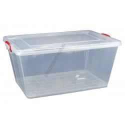 Uzsonnás doboz 58 liter átlátszó fedővel