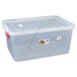 Uzsonnás doboz 25 liter átlátszó fedővel füllel