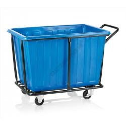 Szennyesgyűjtő kocsi, 118x72x82 cm, műanyag gyűjtő