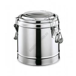 Duplafalú ételszállító badella, 20 liter, rozsdamentes