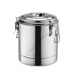 Duplafalú ételszállító badella, 22 liter, rozsdamentes