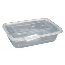 Ételtartó doboz szögl.+fedő 0,5 liter, mikrózható, 50db/csomag