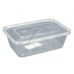 Ételtartó doboz szögl.+fedő 0,75 liter 50db/csomag