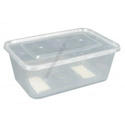 Ételtartó doboz szögletes+fedő 0,9 liter 50db/csomag