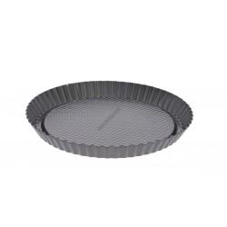 Tortaforma bordázott, ferde éllel, kerek, 28x3 cm