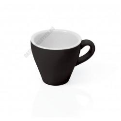 Italia kávéscsésze, fekete, 90 ml, porcelán