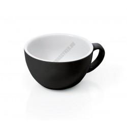 Italia cappuccino csésze, fekete, 200 ml, porcelán
