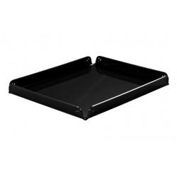 Süteményes tálca, szögletes, 20,4x25,8x2 cm, fekete plexi