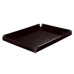 Süteményes tálca, szögletes, 29,4x39,4x2 cm, fekete plexi