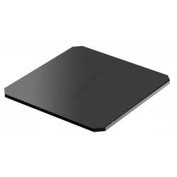 Süteményes tálca, szögletes, 25x12x0,5 cm, fekete plexi
