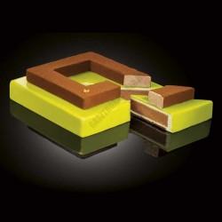 Cake Idea 3 részes sütőkeret, négyzet, rozsdamentes