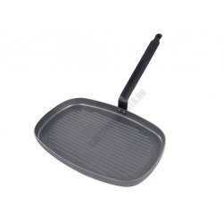Vasserpenyő, téglalap grill serpenyő, 38x26 cm, Carbone Plus, de Buyer