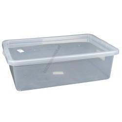 Uzsonnás doboz 28 liter átlátszó fedővel