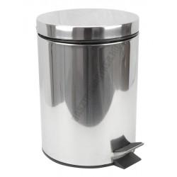 Pedálos szemetes 5 liter, kivehető vödörrel, matt