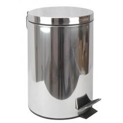Pedálos szemetes 12 liter, kivehető vödörrel, matt