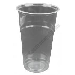 Átlátszó eldobható műanyag pohár, 300 ml, 50 db/cs