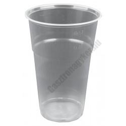 Átlátszó eldobható pohár, 500 ml, műanyag, 25 db/cs