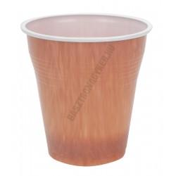 Kávés pohár 150 ml barna műanyag 100db/cs