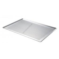 Sütőlemez, 60×40 cm, 45 fok felhajtás, perforált alumínium, de Buyer
