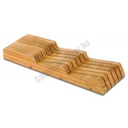 Arcos bambusz késtartó blokk, fiókba helyezhető