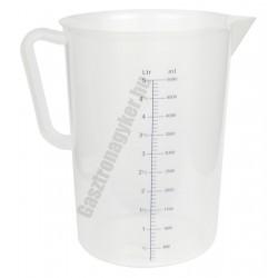 Mérőkancsó 5 liter, polipropilén