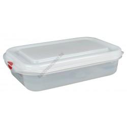 GN edény 1/4  65 mm (16,2x26,5x6,5 cm) 1,8 liter ételtároló légmentesen záró fedővel