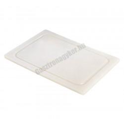 Vágólap, műanyag, 40,5x28,5x1,1 cm, fehér