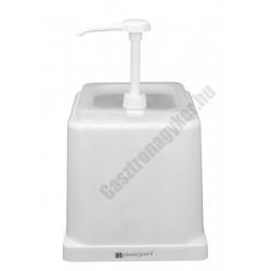 Majonéz adagoló pumpás polikarbonát, fehér 22,5×34 cm