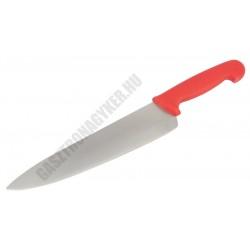 Szakácskés, 25 cm penge, piros nyéllel