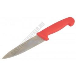 Szeletelőkés, 15 cm penge, piros nyél (nyers húsokhoz)