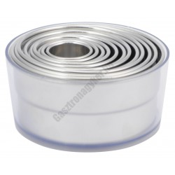 Pogácsaszaggató készlet 12 részes 2,5-10,5×2,5cm
