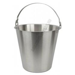 Mércés vödör 10 liter, rozsdamentes