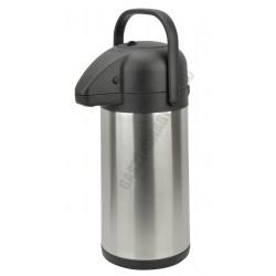 Pumpás termosz rozsdamentesl 2,2 literes 15x36 cm