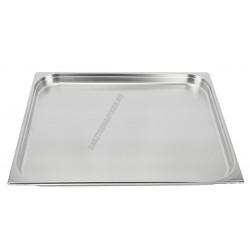 GN edény 2/1 40 mm (65×53×4 cm) 10 liter rozsdamentes tepsi
